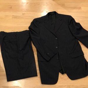 Trussini Italian Wool Navy Suit